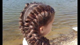Объемные косы. Обратные французские (голландские) // Voluminous dutch braids