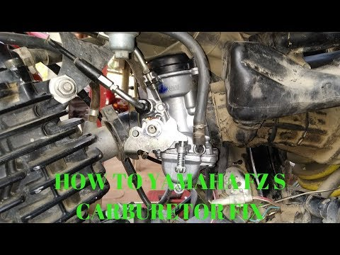 how to Yamaha FZ S carburetor fix