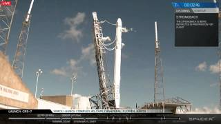 CRS-7 launch stream - full webcast of Falcon 9 loss