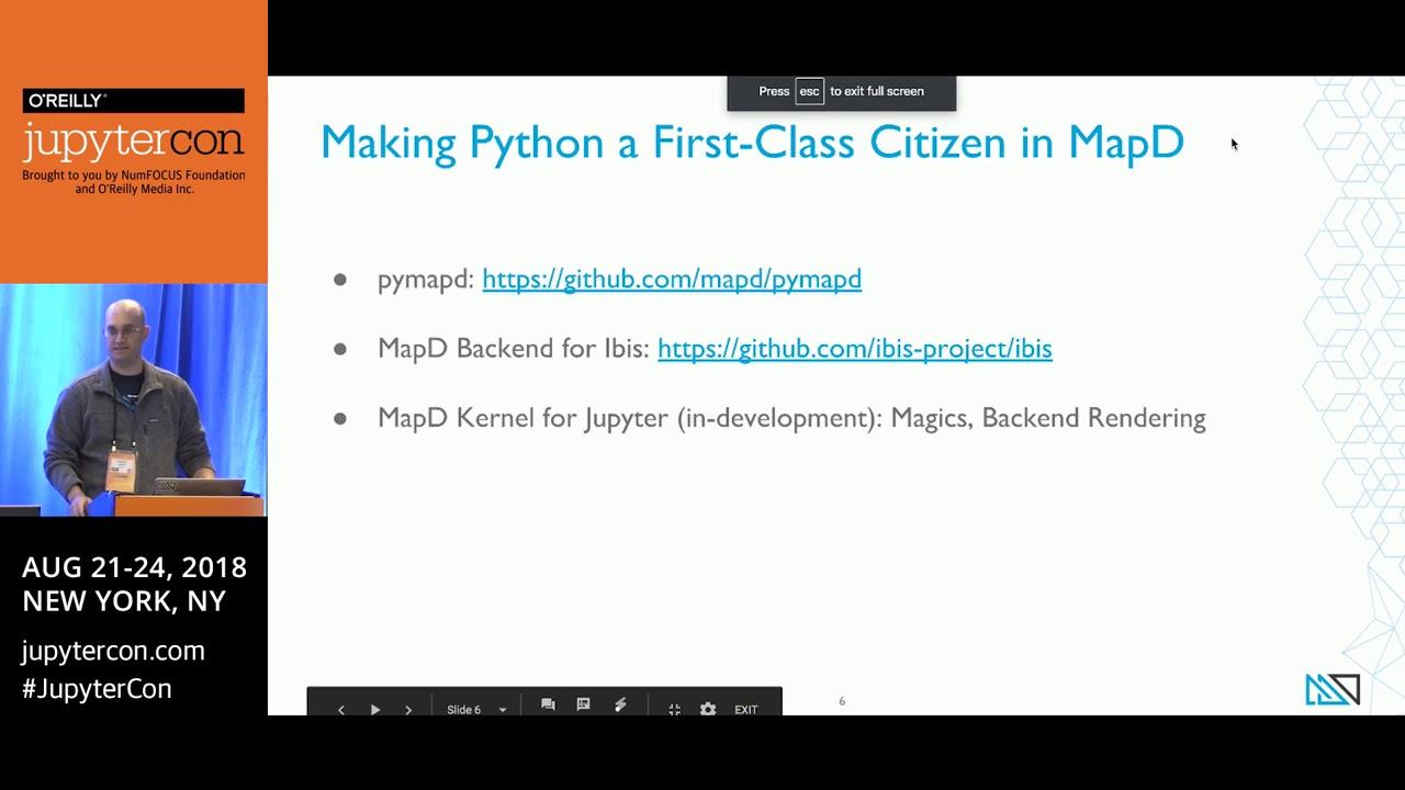 JupyterCon 2018 Wrap-up | MapD