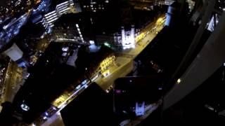 CRANE CLIMB AT NIGHT IN LIVERPOOL (GOPRO POV)
