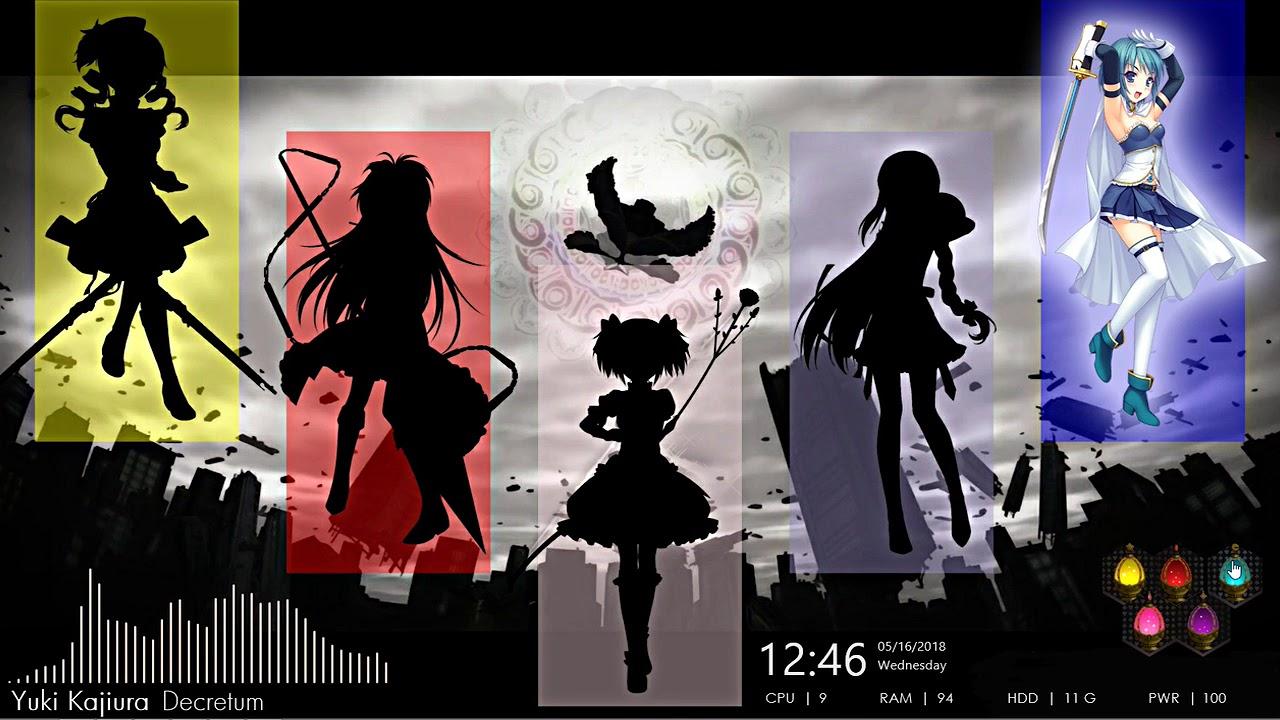 Puella Magi Madoka Magica Desktop Rainmeter Wallpaper Engine