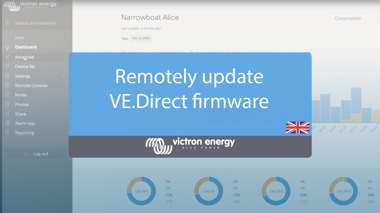 VRM: Remote firmware update [Victron Energy]