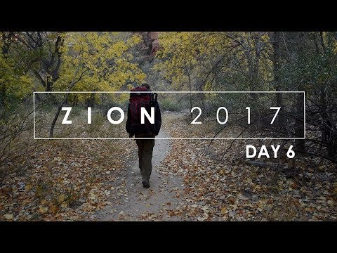 Zion Fall 2017: (Day 6) Fall Landscape Photography in Zion National Park