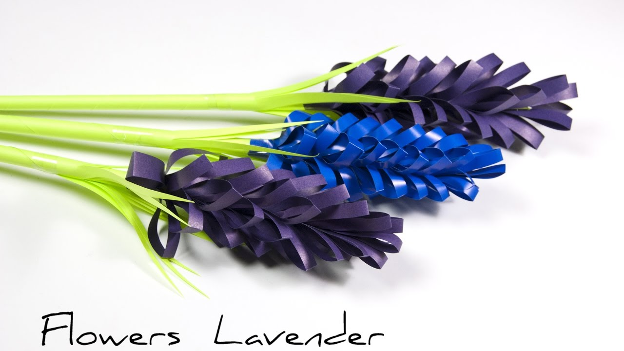 Diy Paper Flowers How To Make Lavender Paper Flower Youtube