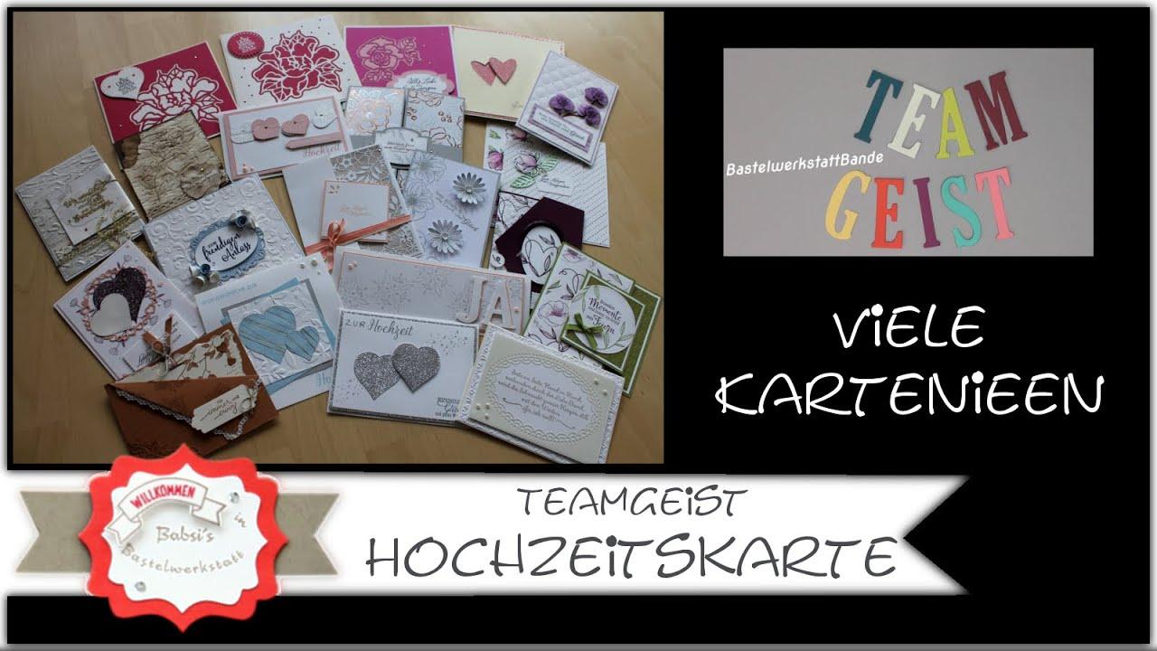 Hochzeitskarten Ideen - Stampin´Up! - Hochzeitskarte basteln - Kartenideen - zur Hochzeit -Teamgeist