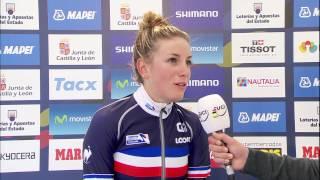 Pauline Ferrand-Prevot Interview after becoming 2014 Elite Women
