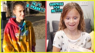 SURPRISE FOR JAYLA AND AYDAH GETS THE iPHONE 8!! / SmellyBellyTV