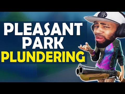 PLEASANT PARK PLUNDERING   NEW BEST DROP LOCATION!? HIGH KILL FUNNY GAME - (Fortnite Battle Royale)