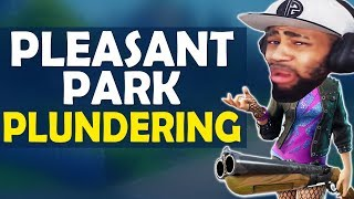 PLEASANT PARK PLUNDERING | NEW BEST DROP LOCATION!? HIGH KILL FUNNY GAME - (Fortnite Battle Royale)