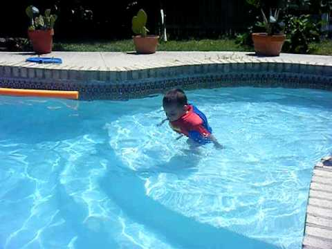 2 Year Old Swimming In Spider Man Suit Youtube
