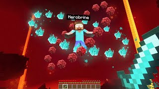 Finding HEROBRINE In The NEW NETHER in Minecraft!
