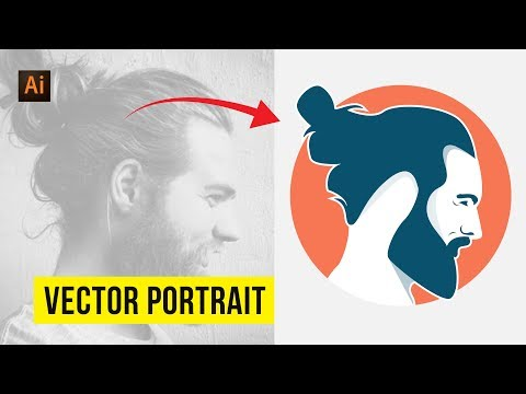 Vector Portrait | Convert Photo To Vector | Illustrator Tutorials | Speedart thumbnail