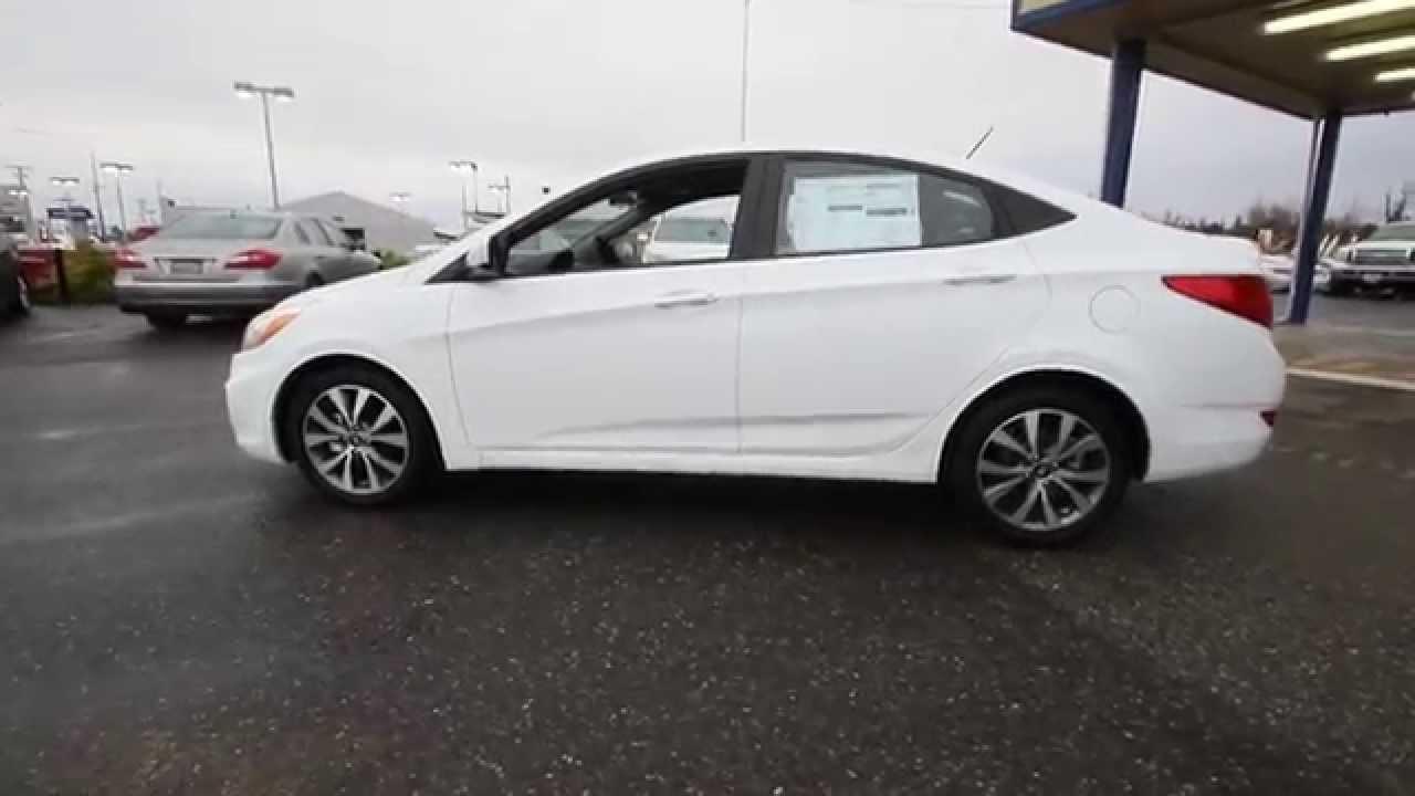 2015 Hyundai Accent Gls White Fu823680 Skagit County