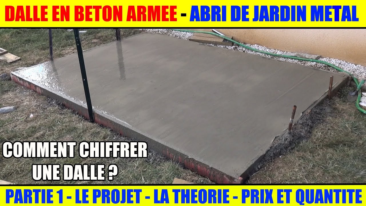 Realiser Une Dalle Beton Armee Pour Abri De Jardin Metal Arrow Youtube