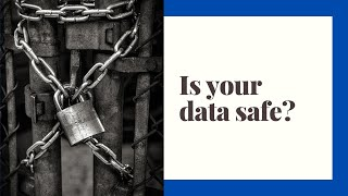 How can you protect your personal data?