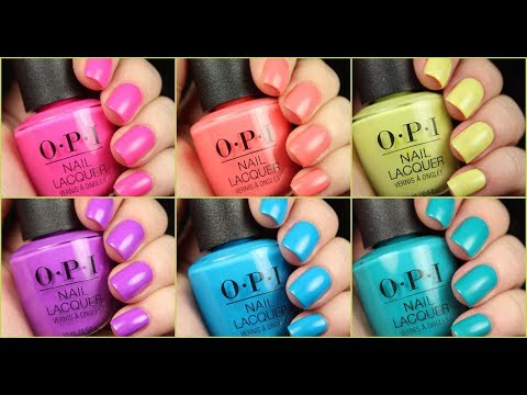 OPI Neons | Limited Edition 2019 Collection | Live Application