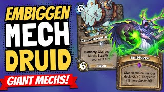 GIANT MECHS!! Embiggen and Magnetic are a Crazy Combo!   Descent of Dragons   Hearthstone