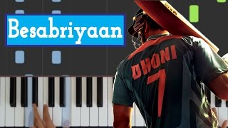 🎹 Besabriyaan - M. S. Dhoni  || EASY Piano Tutorial/Cover by HB Productions