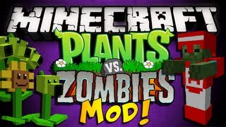 minecraft plants vs zombies mod pea shooters sunflowers items more hd