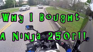 Motovlog #6: Why I bought a Ninja 250r vs a 600?? Best Beginner bike! First Motorcycle.