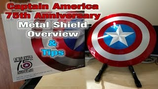 Captain America 75th Anniversary Life Size Shield Unboxing & Tips
