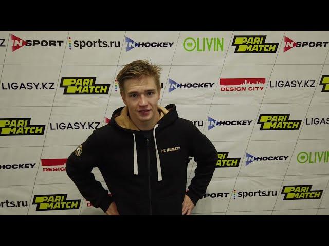 Послематчевые интервью игроков, Дмитрий Мальгин - Никита Баженов.