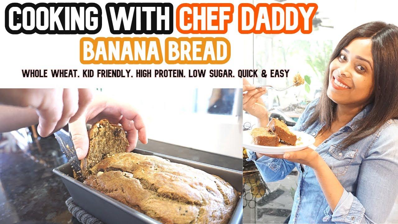 Banana Bread Healthy Banana Bread Kid Friendly Breakfast Ideas Low Sugar Banana Bread Sahm Youtube