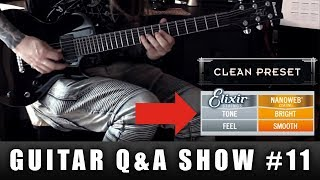 NANOWEB vs POLYWEB - which strings sound better? | GUITAR Q&A SHOW #11