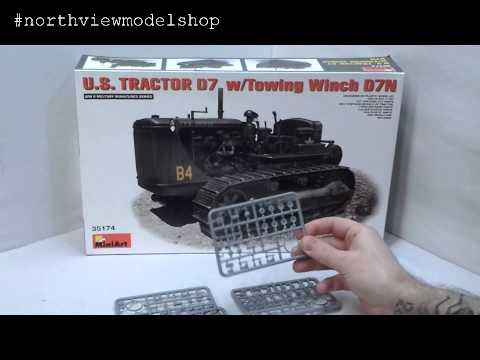 MiniArt U.S Tractor D7 w/Towing Winch D7N Box Review