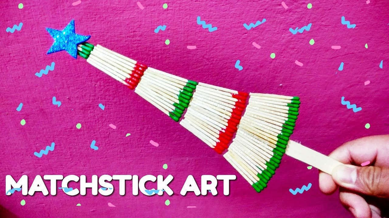 Wonderful christmas tree made with match stick for Diy crafts youtube channels