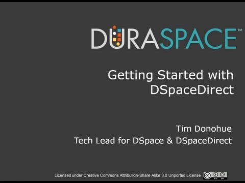DSpaceDirect: Customer Training Recording - September 12, 20