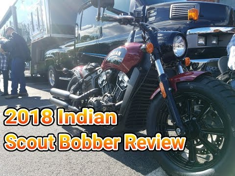 2018 Indian Scout Bobber Review - YouTube