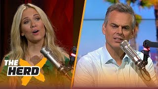 Kevin Durant didn't want Joel Embiid to talk trash on Twitter - Kristine and Colin react | THE HERD