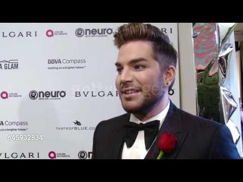 Adam Lambert Interview - Elton John's Oscar Viewing Party