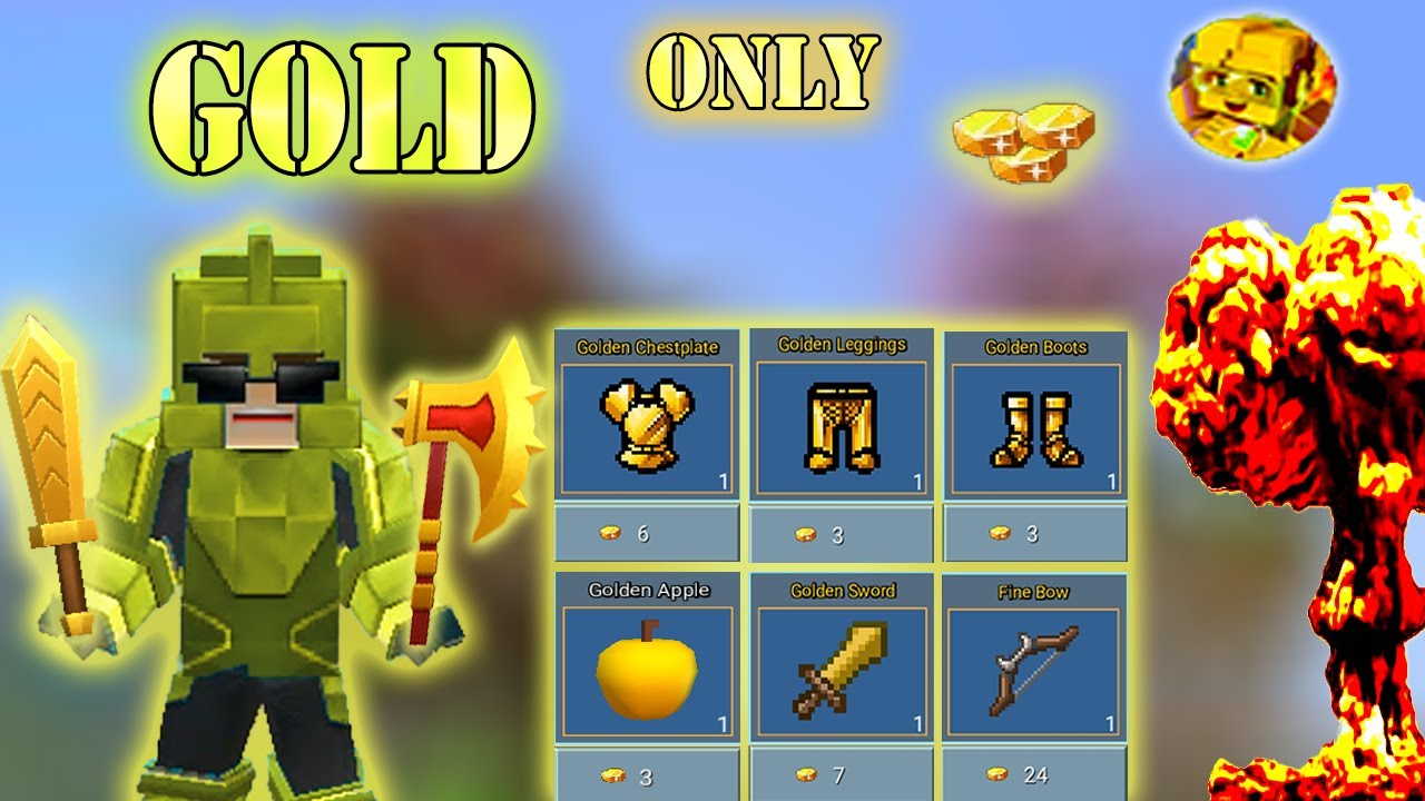 Download GOLD Only Challenge In Bed Wars | Blockman Go Gameplay (Android , iOS)