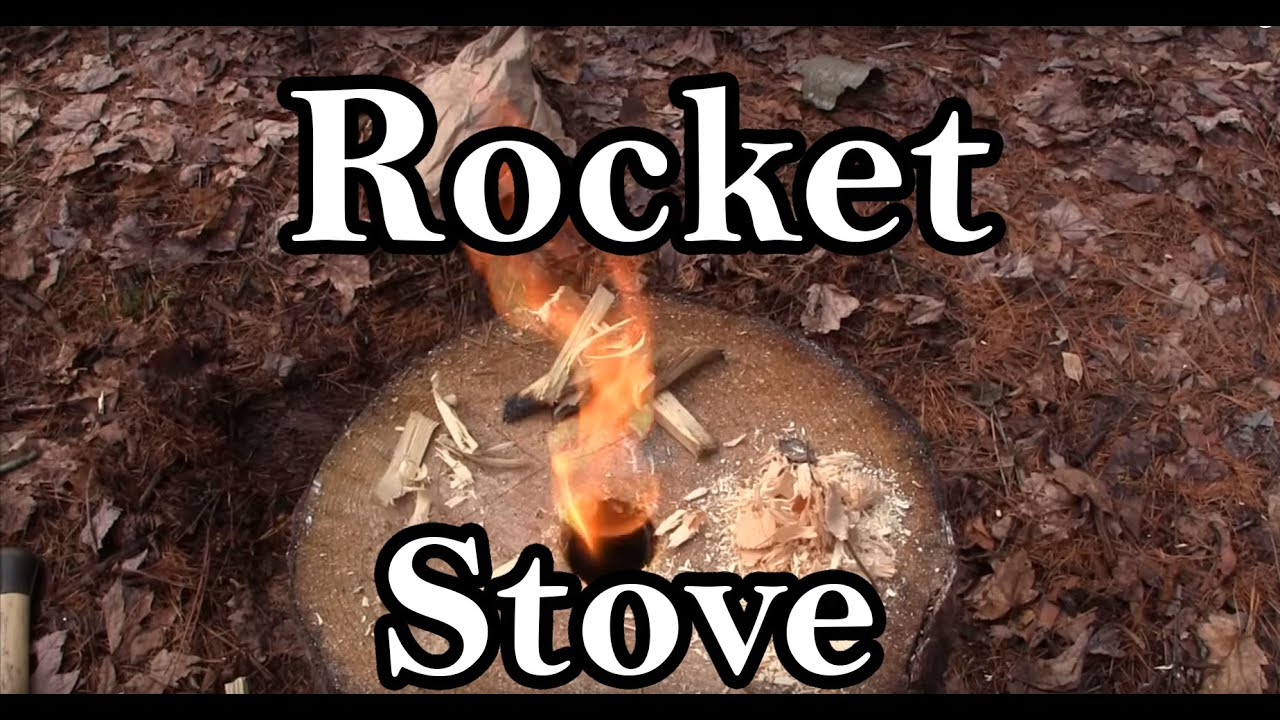 Rocket Stove / Fire Log How To with a Wood Log - YouTube