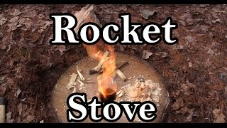 Rocket Stove / Fire Log How To with a Wood Log
