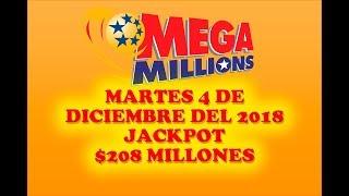 Gambar cover Resultados Mega Millions 4 de Diciembre 2018 $208 Millones de dolares Powerball en Español