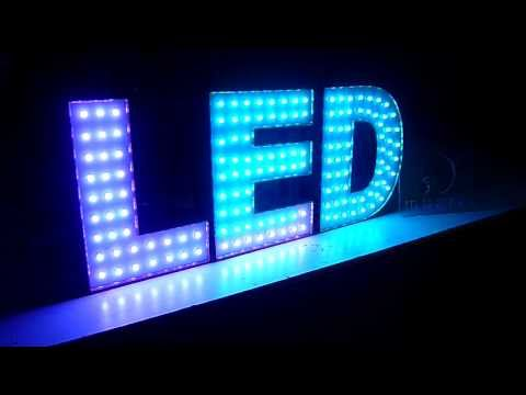 Anuncio luminoso Pixel Led, ideal para: Bingos, Casinos, SportBooks, Antros - YouTube