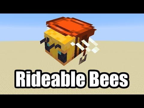 Minecraft's new bees have already been made rideable | PC Gamer