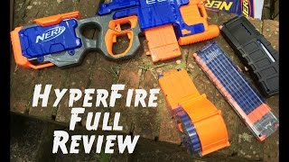 Review: Nerf HYPERFIRE (New Unboxing and Firing Demo)