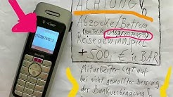 ACHTUNG Anruf Abzocke Reise Gewinnspiel + 500 Euro BAR !!!