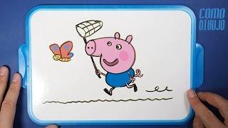 Como Dibujar George Pig | How to Draw George Pig | Dibujar Kawaii es Fácil