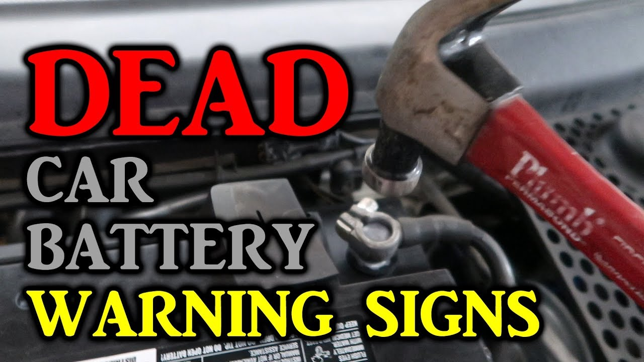 Signs Of A Dead Car Battery >> Dead Car Battery Warning Signs - YouTube