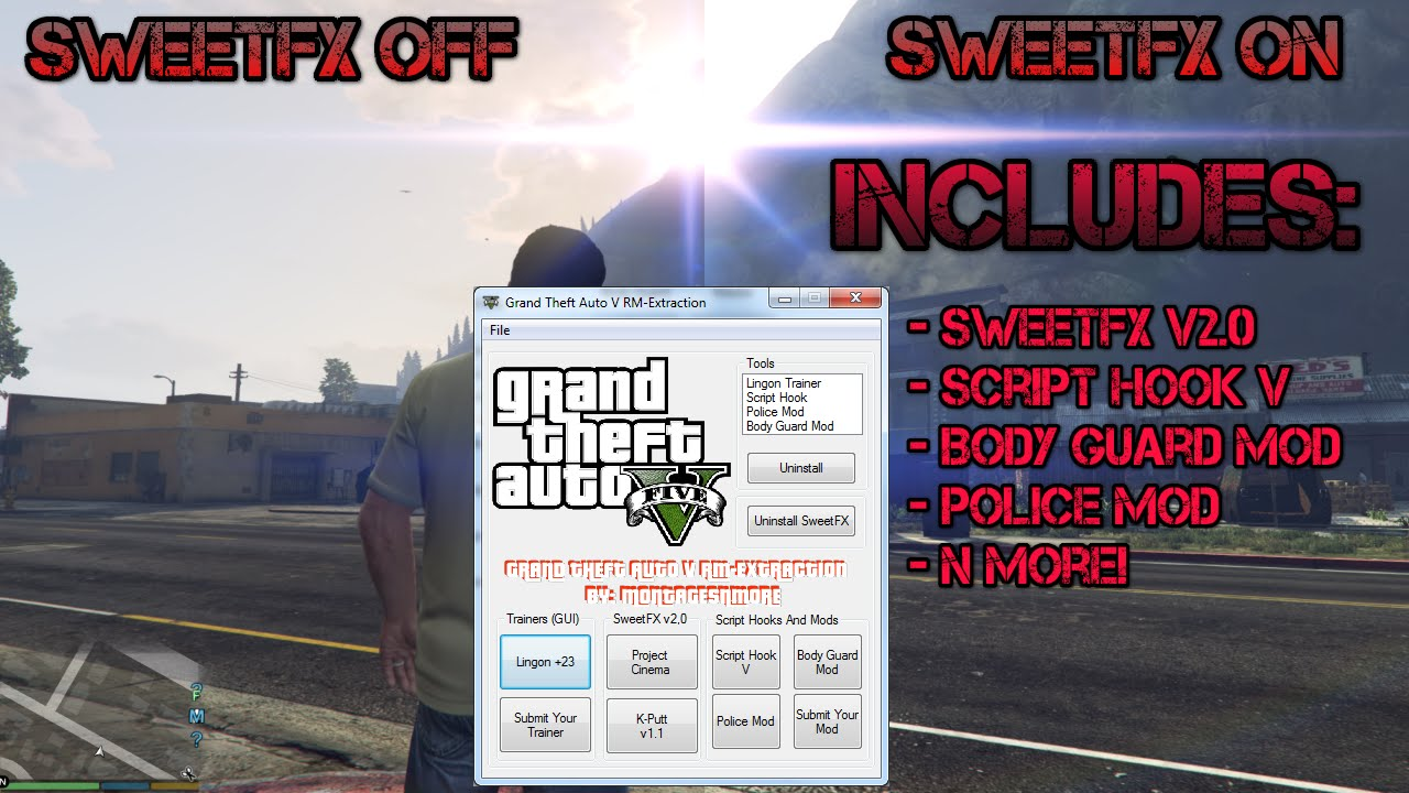 GTA V (PC) Mod Download - Zombies, SweetFX, Script Hook V, And More!