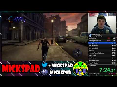 [World Record] inFAMOUS 2 any % Speedrun in  3:06:41   (Read Description)