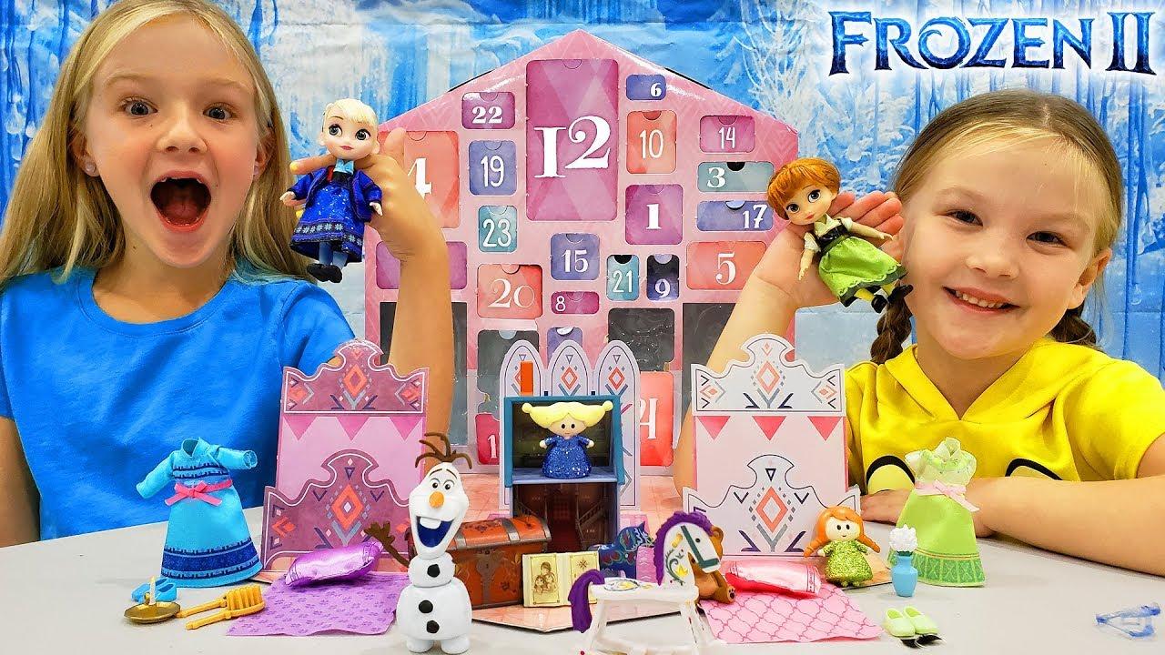 disney frozen 2 advent calendar opening all 24 days of. Black Bedroom Furniture Sets. Home Design Ideas
