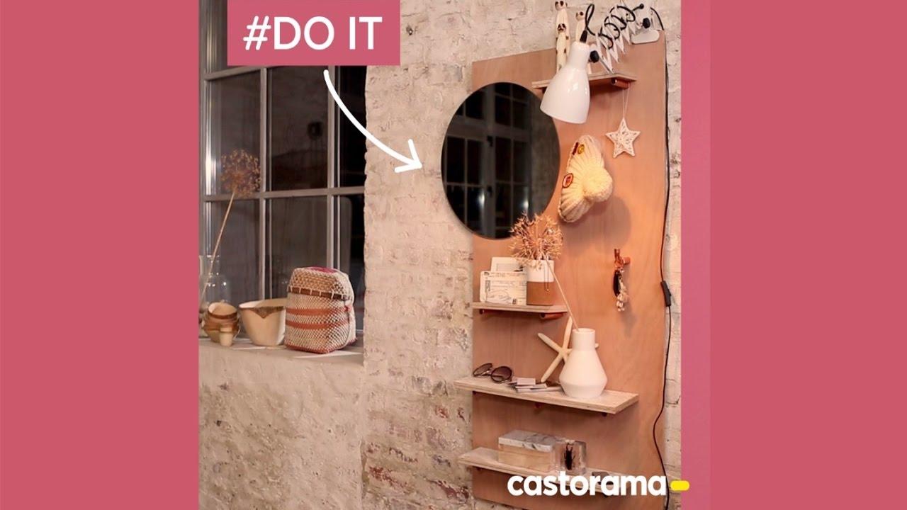 DIY : fabriquer un rangement mural en bois et cuivre - Castorama - YouTube