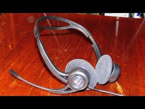 Наушники с микрофоном LOGITECH PC Headset 960 USB - YouTube e2f3e5732e